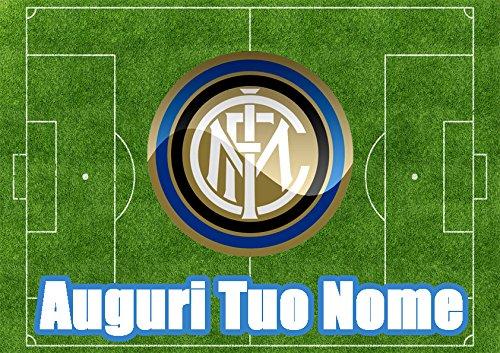 Partycolare Cialda per Torta Campo Calcio Stemma Inter - da Personalizzare - inter002
