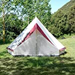 skandika Tipii II 8 Person Tent Festival Party Tent Teepee Wigwam with 250 cm Height, 3000 mm Water Column & Zip-Up… 13