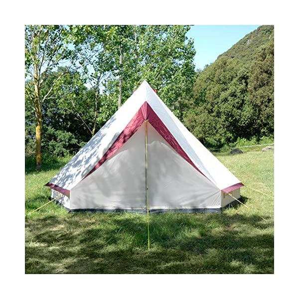 Skandika Tipii II 8 Person Tent Festival Party Tent Teepee Wigwam with 250 cm Height, 3000 mm Water Column & Zip-Up Walls 4