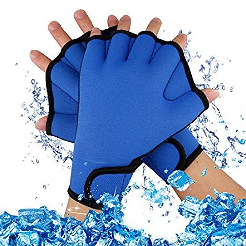 A-szcxtop buceo Webbed Guantes Ejercicio acuático agua resistencia na