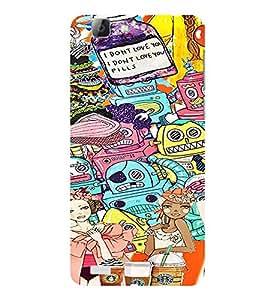 ifasho Designer Phone Back Case Cover Vivo V1 ( Stud Vector cool Boy )