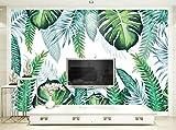 Yosot Moderne 3D-Hintergrund Handgemalte Tropische Pflanze Verlässt Hintergrund Wandbild Nach Maß 3D-Tapete Beliebiger Größe-140cmx100cm