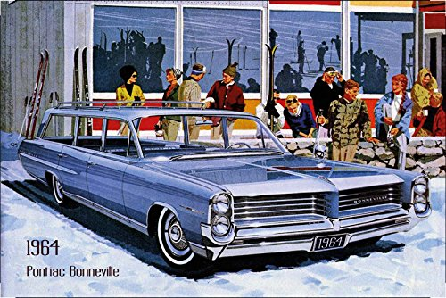 pontiac-bonneville-1964car-signs-barschild-us-blue