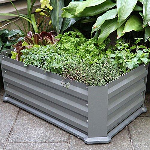 """Bio Green Metallhochbeet mit Kunststoffboden """"Mainau"""", anthrazit, 80 x 50 x 30 cm, MH"""