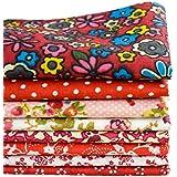 Shi Tong - Retales de tela para patchwork (20 x 25 cm), diseño floral