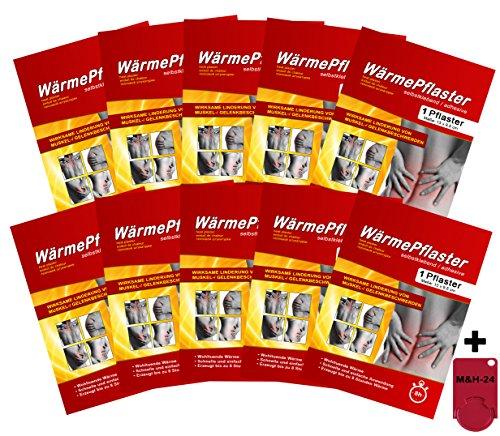 10er Set Wärmepflaster Wärmekissen Schmerzpflaster Wärmepads Rückenwärmer bis 8h, Bundle mit Chip Exklusiv von M&H-24