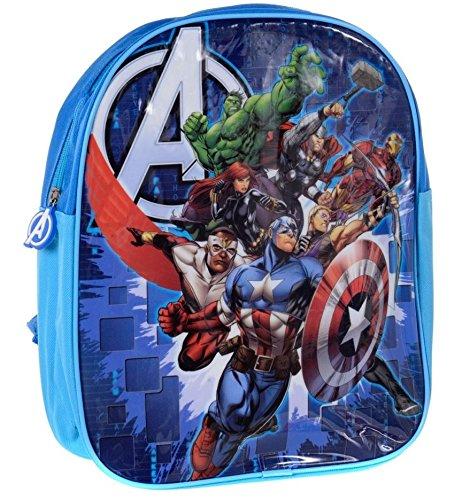 The Avengers Official Boy's Blue School Travel Backpack Bag
