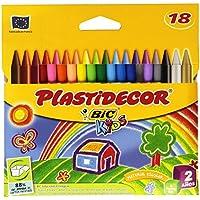 Bic 875771 - Ceras plastidecor, caja de 18 colores