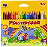 BIC Kids Plastidecor - Pack de 18 ceras para colorear