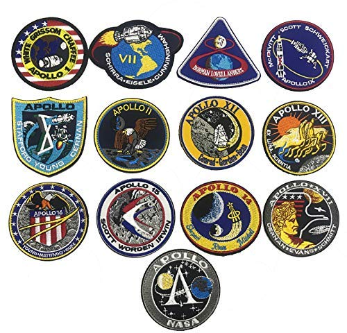 49379c8163fa3 OYSTERBOY 13PCS NASA Apollo Mission Space Moon Landing Program Patch  Collection