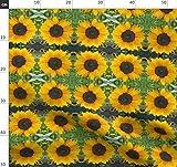 Sonnenblume, Blüten, Gelb, Blumen Stoffe - Individuell
