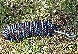 Strick Führstrick 2,5m mit Panikhaken Farbe wählen, Farbe:blau/braun/hellblau