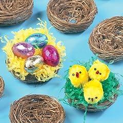 Idea Regalo - Baker Ross Mini nidi d'uccello per Morbidi Pulcini e Decorazioni pasquali (Confezione da 15)