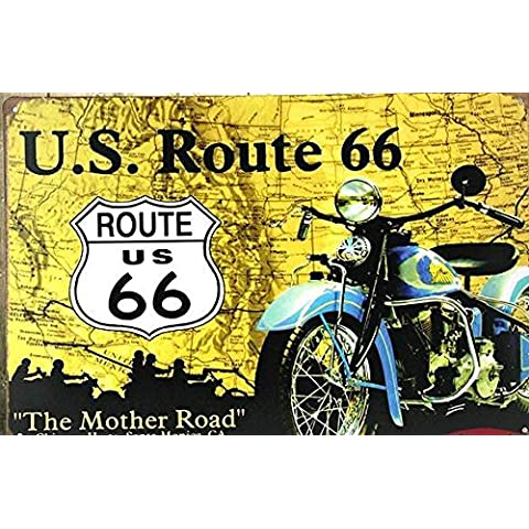 (19999) -la Carretera Madre -- la ruta 66 vintage retro signos de estaño metal recuerdos nostálgicos de pintura para la decoración del hogar artesanía D-13