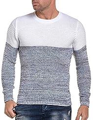 BLZ jeans - Pullover blanc stylé à maille épaisse