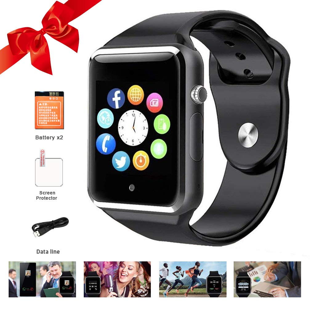 Bluetooth Smart Watches Touchscreen with SIM Card Slot, Smartwatch Compatible with Android phones and IOS Phone Smart Wrist Watch for Men Women Kids