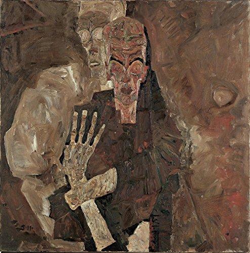 Das Museum Outlet–Egon Schiele–Tod und Mann, gespannte Leinwand Galerie verpackt. 40,6x 50,8cm