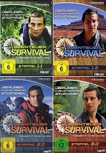 Ausgesetzt in der Wildnis - ABENTEUER SURVIVAL - Staffel 1 2 3 Bear Grylls 8 DVD Collection