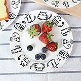 Gatto Super Carino Piatto in ceramica Piatto da dessert Piatto da dessert Antipasto Piatto da insalata Piatto da bistecca Piatto di servizio per la cucina del partito Compleanno Catering per matrimoni Meow Porcellana 7 pollici(2 pezzi)