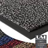 UAREHOME HEAVY DUTY NON SLIP BARRIER MAT LARGE SMALL RUGS RUNNER KITCHEN DOOR HALL (60x180, Grey)