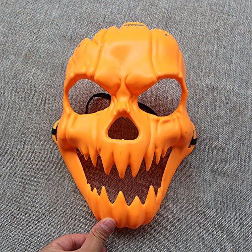 Eizur Halloween Kürbis Maske Zombi Gruseln Schream Kopfmaske Halloween Zubehör Prop Kostüm Party Dekorationen (Meisten Extreme Die Orte)