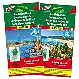 Freytag Berndt Autokarten, Sardinien Nord und Süd, Set, Top 10 Tips - Maßstab 1:150.000 (freytag & berndt Auto + Freizeitkarten)