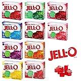 Jell-O Desserts Gélatine - Assortiment de 10 parfums fruités