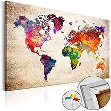 murando Cuadro - Tablero de corcho 120x80 cm - XXL Format - 1 Parte - Cuadro sobre corcho Poster Mapamundi k-B-0027-p-a 120x80 cm