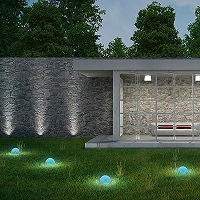 Plaights Solar Bodenleuchten außen led | 5 Bodenstrahler und 1 Solarmodul enthalten | Boden-Lichterkette perfekt geeignet für Garten, Terrasse, Wegbeleuchtung oder Garageneinfahrt