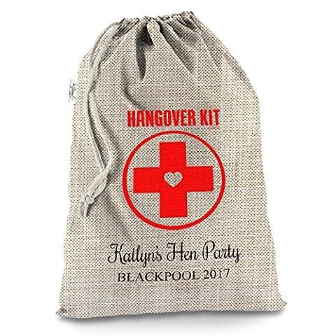 personalisierbar Hangover Kit X-Large Sackleinen Weihnachten Santa Sack Mail
