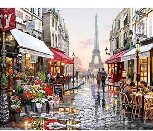 WACYDSD Puzzle Adulte 1000 Pièces Puzzle 3D Rue De Fleur De Paris Paysage Bricolage Moderne Art Mural pour La Décoration Intérieure   Large Sélection