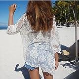 ShouYu Spitze aus dem Shirt Hose JackeDas Garn Anti-Trocknung in Long Beach, Bikini, Boden, Eine GrößeDas Weiße Cover-up