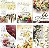 100 Diamanthochzeitskarten 73-1175, Glückwunschkarten Diamantene Hochzeit, Diamanthochzeit