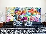 Cabecero Cama PVC Impresión Digital | Ciudad Colorida 150 x 60 cm | Cabecero...