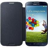 Samsung Flip - Funda para móvil Galaxy S4 (Con tapa, protección del terminal, sustituye a la tapa trasera), negro