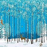 YiShuQiang Wallpaper Fototapeten Kinderzimmer Winter Wald Cartoon Wandaufkleber Wanddekoration Wandbilder Wohnzimmer Schlafzimmer Büro Flur Dekoration Fototapetens