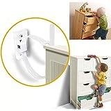 Anclaje Antivuelco Correas para Muebles para Protecci/ón de Beb/és y Mascotas Seguridad Bebe Kit Anclar Muebles SYOSIN Cerraduras de Seguridad para Ni/ños 6 Pack