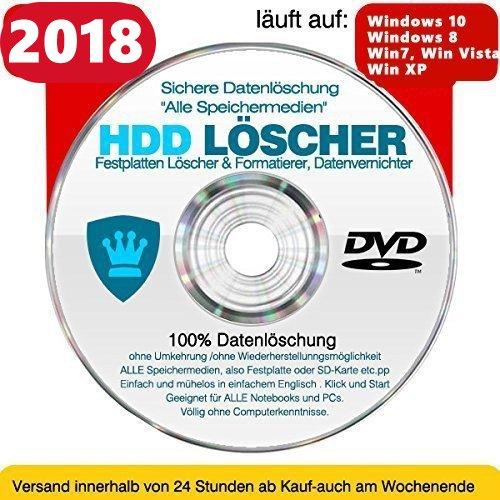 Festplatten Löscher & Formatierer, Datenvernichter, Sichere Datenlöschung !Alle Speichermedien! CD/DVD - Löschen Festplatte