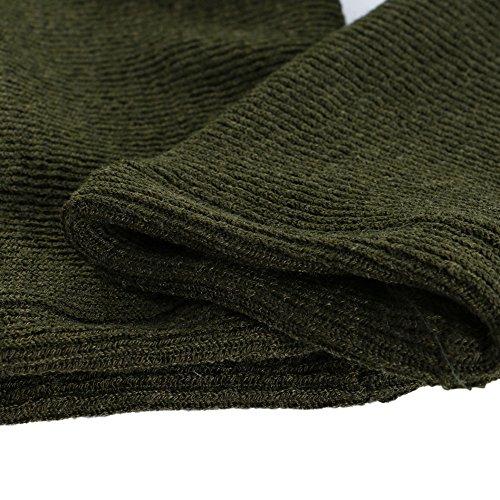 Vertvie Damen Offene Cardigan Langarmshirt Wasserfall Strickjacke Asymmetrisch Strickmantel Mantel Grün