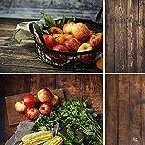 Selens 56x88cm 2 in 1 Hintergrund Retro Rotholz Holzmaserung Flatlay Tischplatte Fotografie Doppelseitiger Hintergründe für Gourmet Blogger, Kosmetik, Online Shops Produktfotografie