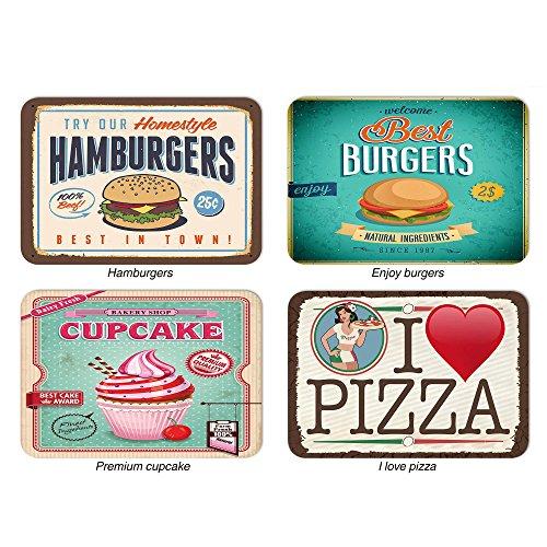 Set 4 pezzi tovagliette americane 31x45 cm food