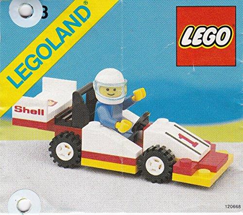 Preisvergleich Produktbild Lego 6503 Sprint Racer Formel 1 Rennwagen Auto Shell mit Figur,  komplett mit OBA (geknickt,  gelocht),  Legoland