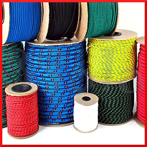 4mm Polypropylene Rope Braided Poly Cord Line Sailing Boating Camping Climbing Yachting (5 meters)