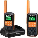 Retevis RT649 Walkie Talkie PMR446 Sin Licencia IP65 Impermeable 2 Métodos de Carga Dual Linterna Walkie Talkie Recargable 3A