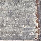 Vliestapete Metall grau weiß Vintage Rules! 138218