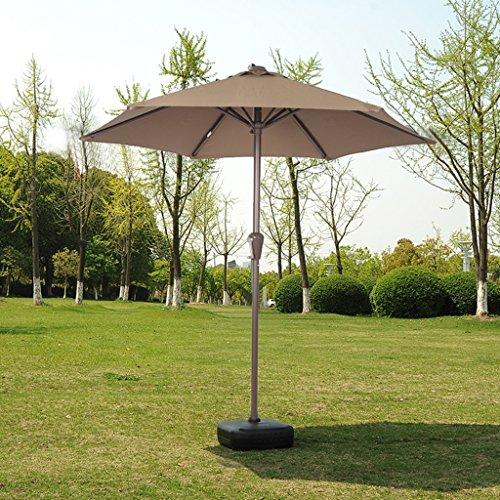 LXY Sonnenschirm Schirm Regenschirm Sonnenschirm Sonnenschirm Schirm im Freien Sonnenschirm Stall Regenschirm Schirm Regenschirm Regenschirm (Farbe : Khaki)
