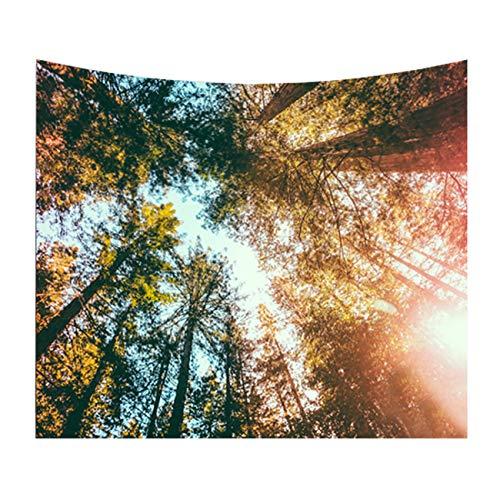 Thee arazzo da appendere a parete, motivo: alberi della foresta, utilizzabile ance come coperta e decorazione di stanza, 8, medium