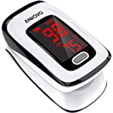 ANKOVO Saturimetro da dito, monitor di saturazione ossigeno nel sangue, monitor battito cardiaco e livello spO2, battito card