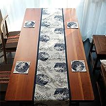 La bandera nacional china té Table Runner tela algodón Streamers cama tela toalla entrada armario TV,30x160cm.