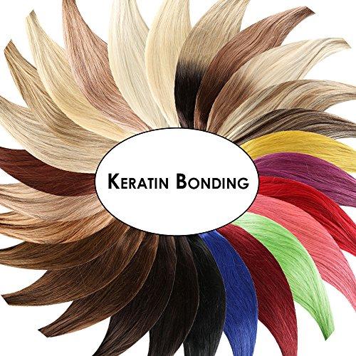 Keratin Bonding Hair Extensions 100% Remy Echthaar Haarverlängerung (#613 HELLLICHTBLOND - 50 Strähnen je 0,5g - 60cm) U-Tip Extention Remy Qualität by Haar-Profi